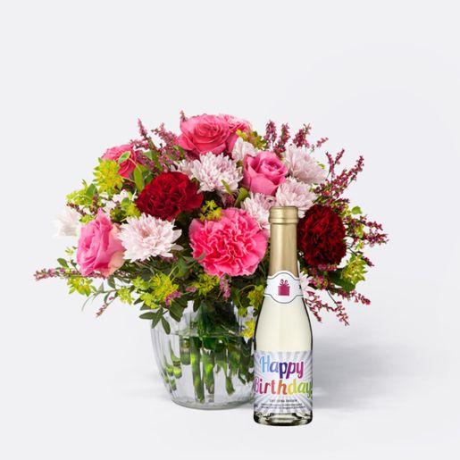 Blumenstrauß Schön, dass es Dich gibt mit Piccolo Happy Birthday