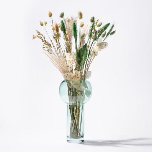 Trockenblumen Bouquet in Mint mit Vase