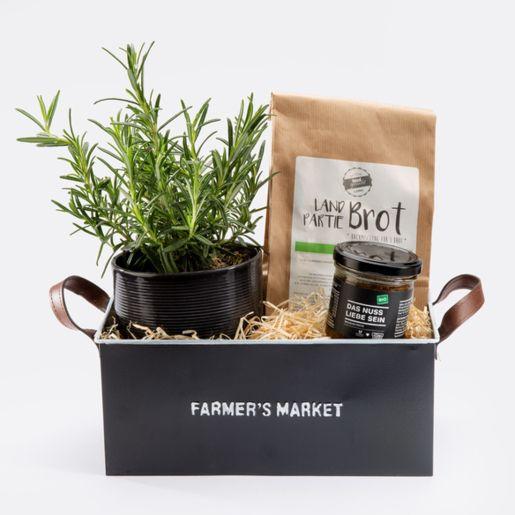 Geschenkset Brotzeit mit Rosmarin, Brotmischung und Bio-Pesto