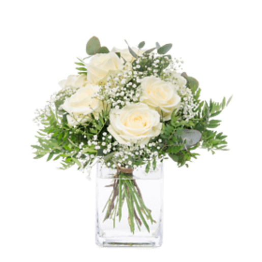 Weißer Rosengruß - | Fleurop Blumenversand