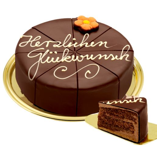 Dessert-Sachertorte Herzlichen Glückwunsch