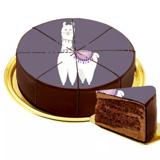 Dessert-Motiv-Torte Lama
