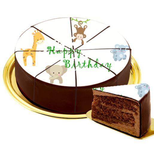Dessert-Motiv-Torte Zootiere