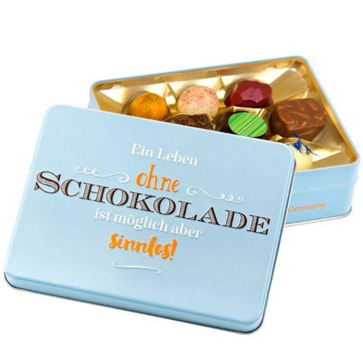Präsentdose Ein Leben ohne Schokolade...