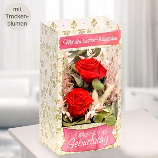 Blumenfenster Mit den besten Wünschen