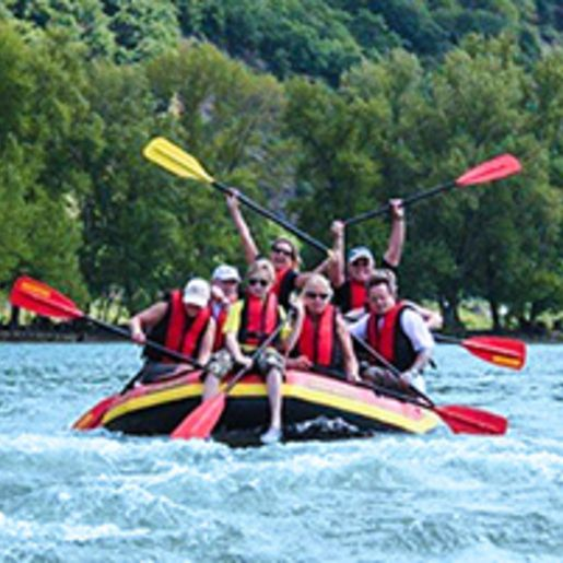 River Rafting auf dem Rhein bei Ruedesheim