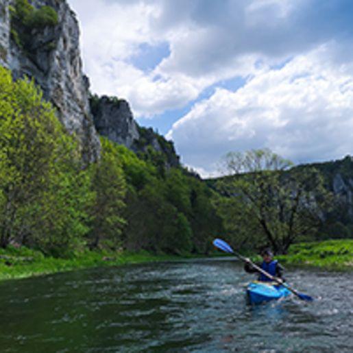 Kanu Tour auf der Donau in Beuron