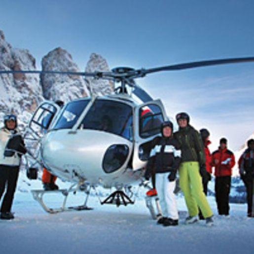 Heliskiing auf Suedtirols Dolomiten