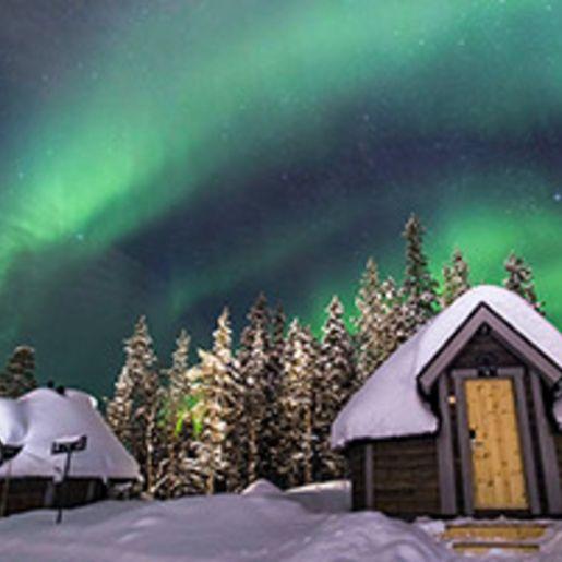 Romantischer Nordlichter-Kurzurlaub in Lappland fuer 2