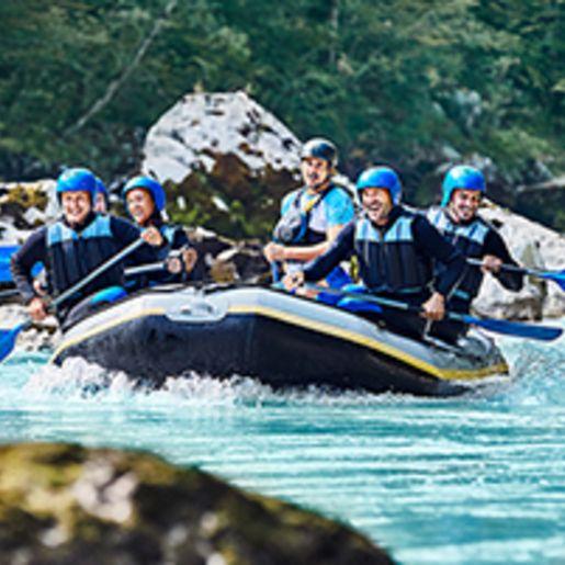Einsteiger-Rafting-Tour im Allgaeu fuer 2