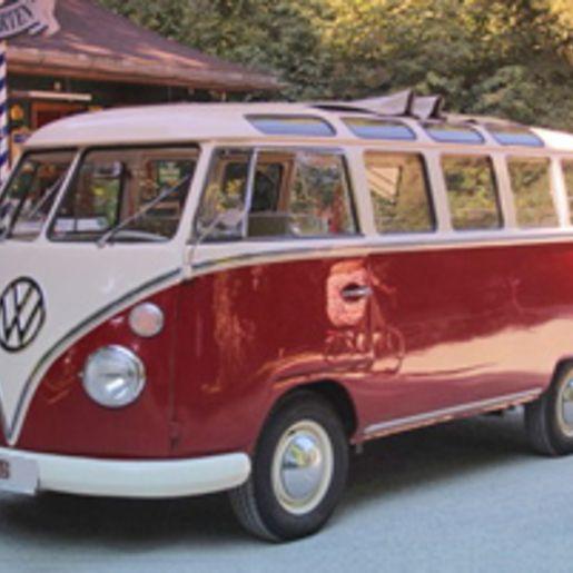 Stadtrundfahrt im VW Bulli durch Muenchen