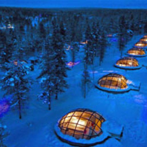 Abenteuerurlaub im Glasiglu in Lappland fuer 2 (3 Tage)