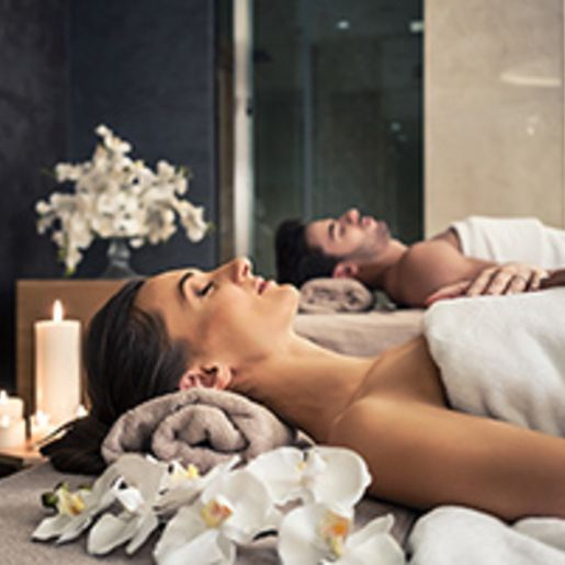 Romantische Massage fuer 2