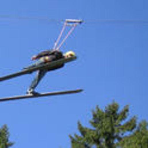 Skispringen am Skiflyer