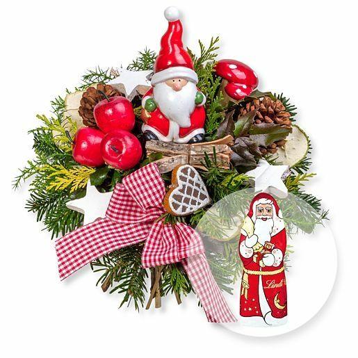 Santa Claus und Lindt-Weihnachtsmann