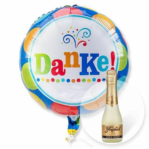 Ballon Danke und Freixenet Semi Seco
