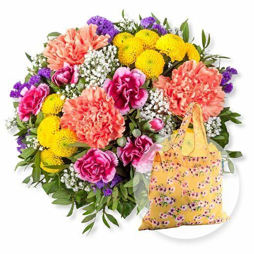 Lieber Gruß und Easy Bag Blüten gelb
