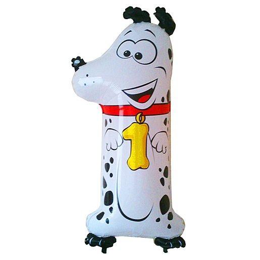Tierischer Zahlen-Ballon 1 Dalmatiner