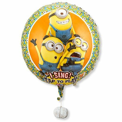 Singender Ballon Geburtstagsgrüße lachende Minions