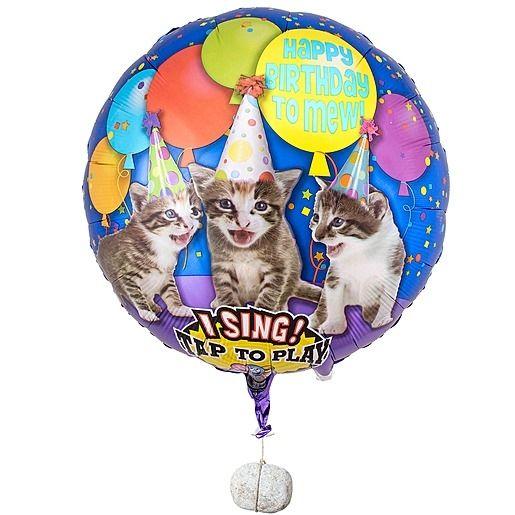 Singender Ballon - Tierische Geburtstagsgrüße Cats