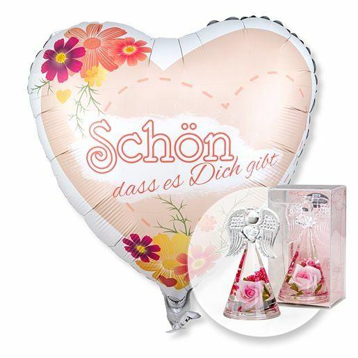 Ballon Schön, dass es dich gibt! und Dreamlight Rosen-Engel