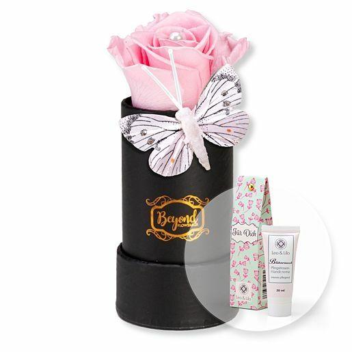 Infinity Rosenbox Butterfly und Blütenrausch Pfingstrosen-Handcreme Für Dich