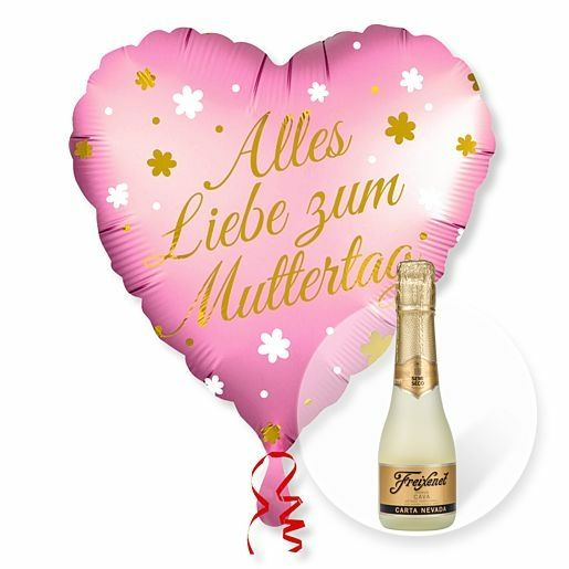 Ballon Alles Liebe zum Muttertag und Freixenet Semi Seco