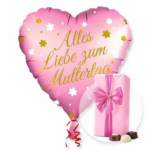 Ballon Alles Liebe zum Muttertag und Belgische Pralinen