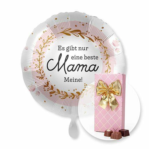 Ballon Es gibt nur eine beste Mama...Meine! und Belgische Pralinen-Auslese
