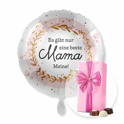 Ballon Es gibt nur eine beste Mama...Meine! und Belgische Pralinen