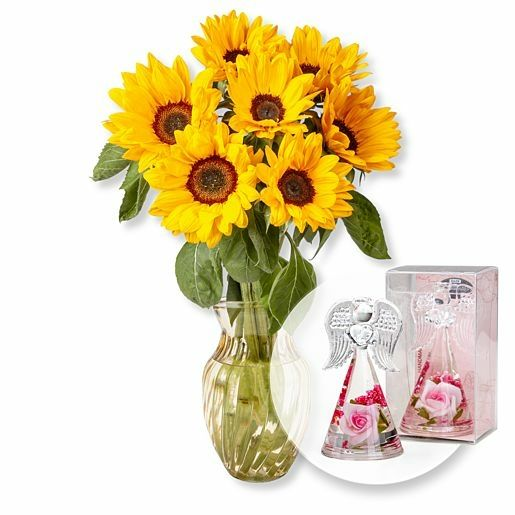Sonnenblumen-Glück und Dreamlight Rosen-Engel