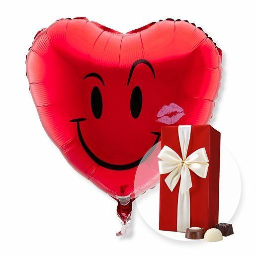 Ballon Kuss-Smiley und Belgische Pralinen