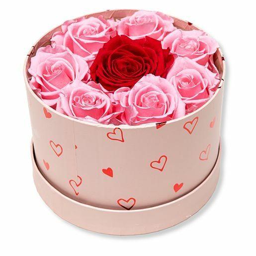 Infinity-Rosen in Romantik-Box