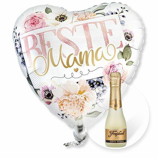 Ballon Beste Mama Rosen und Freixenet Semi Seco