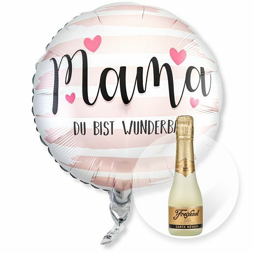 Ballon Mama Du bist wunderbar und Freixenet Semi Seco