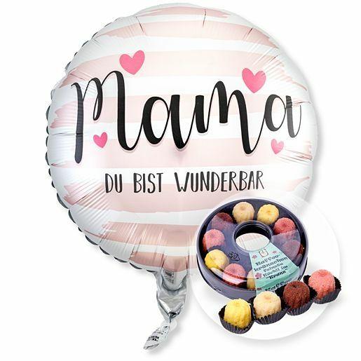 Ballon Mama Du bist wunderbar und Kaffeekränzchen