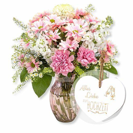 Pink Beauty und Vintage-Herz Alles Liebe zur Hochzeit
