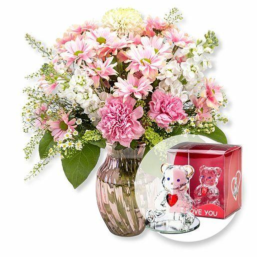 Pink Beauty und Glasbär mit Herz