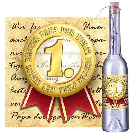 Flaschenpost Bester Papa der Welt!
