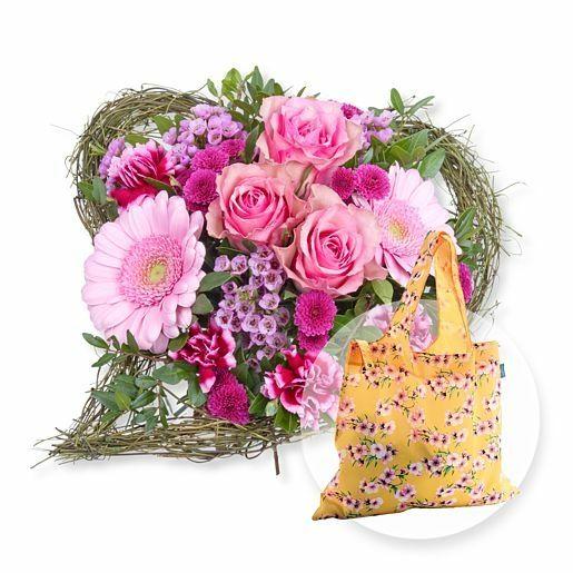Von Herzen und Easy Bag Blüten gelb