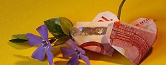 Geldherz - Geschein Origami