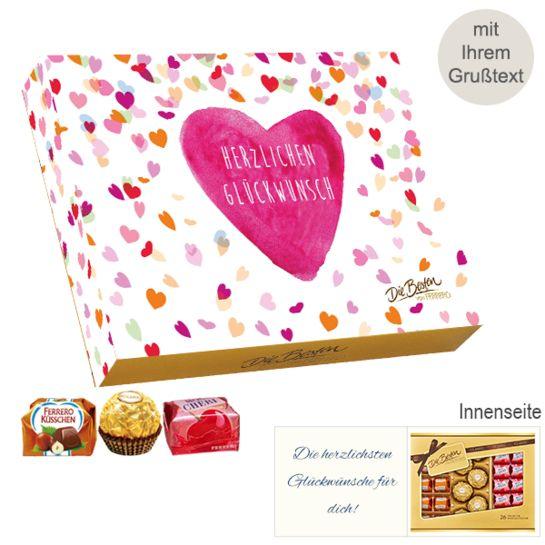 Persönliche Grußkarte mit Ferrero Die Besten: Herzlichen Glückwunsch (269g)