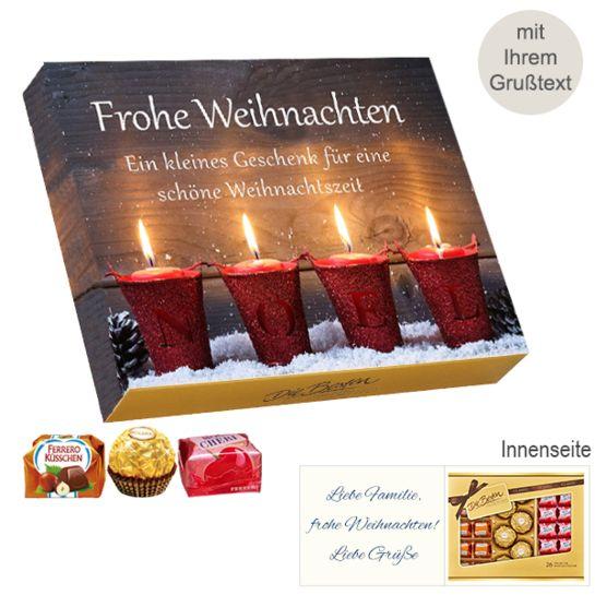 Persönliche Grußkarte mit Ferrero Die Besten: Frohe Weihnachten (269g)